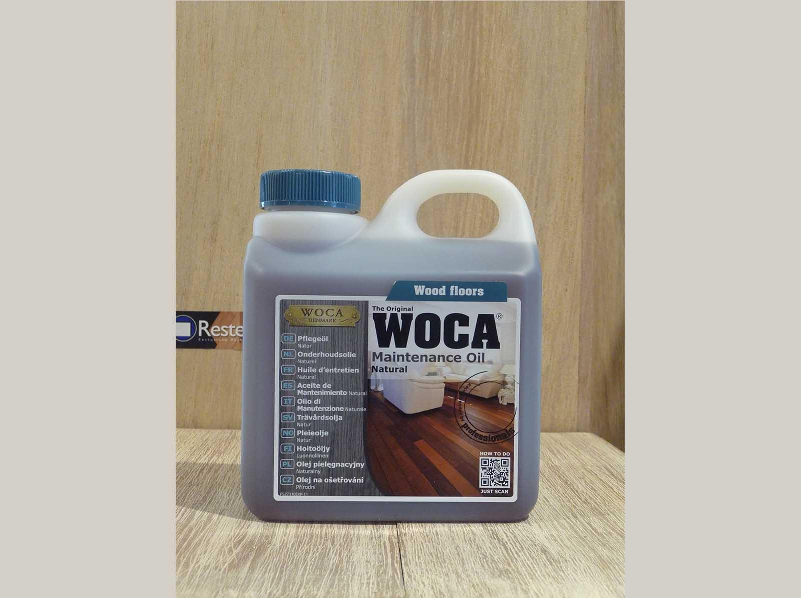 Onderhoudsolie Woca naturel 1 ltr